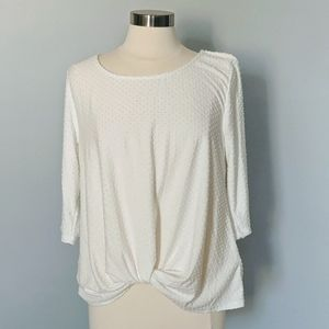 NEW W5 Anthropologie Cream Pom Pom Top